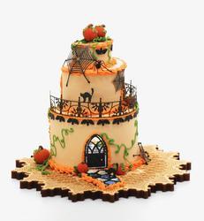 Bat Halloween Cake House