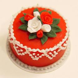 Cross Cake Red Icing