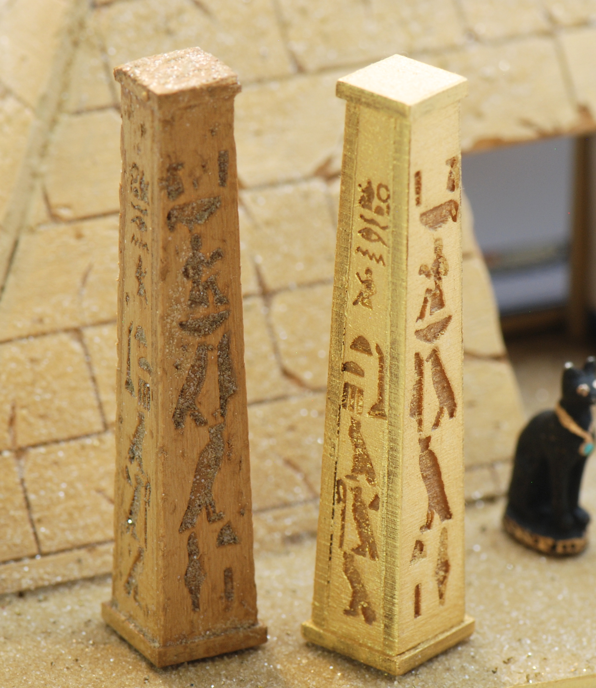 1 48 Set Of 2 Egyptian Pillars Stewart Dollhouse Creations