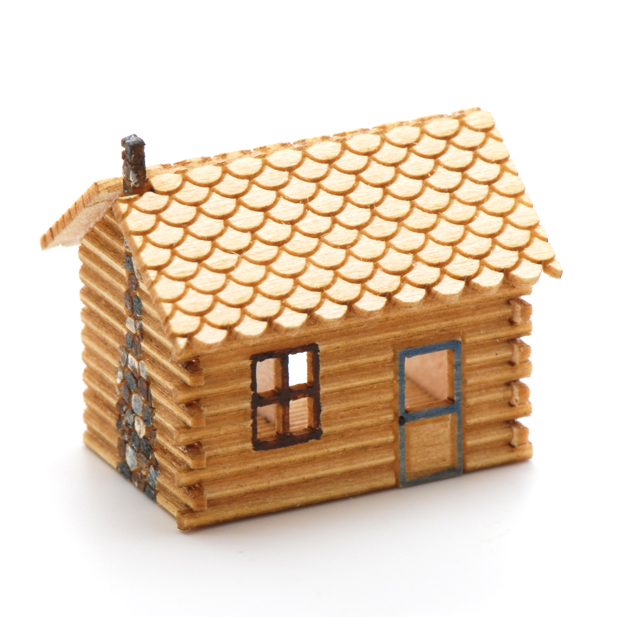 Log Cabin Dollhouse Kit | Stewart Dollhouse Creations