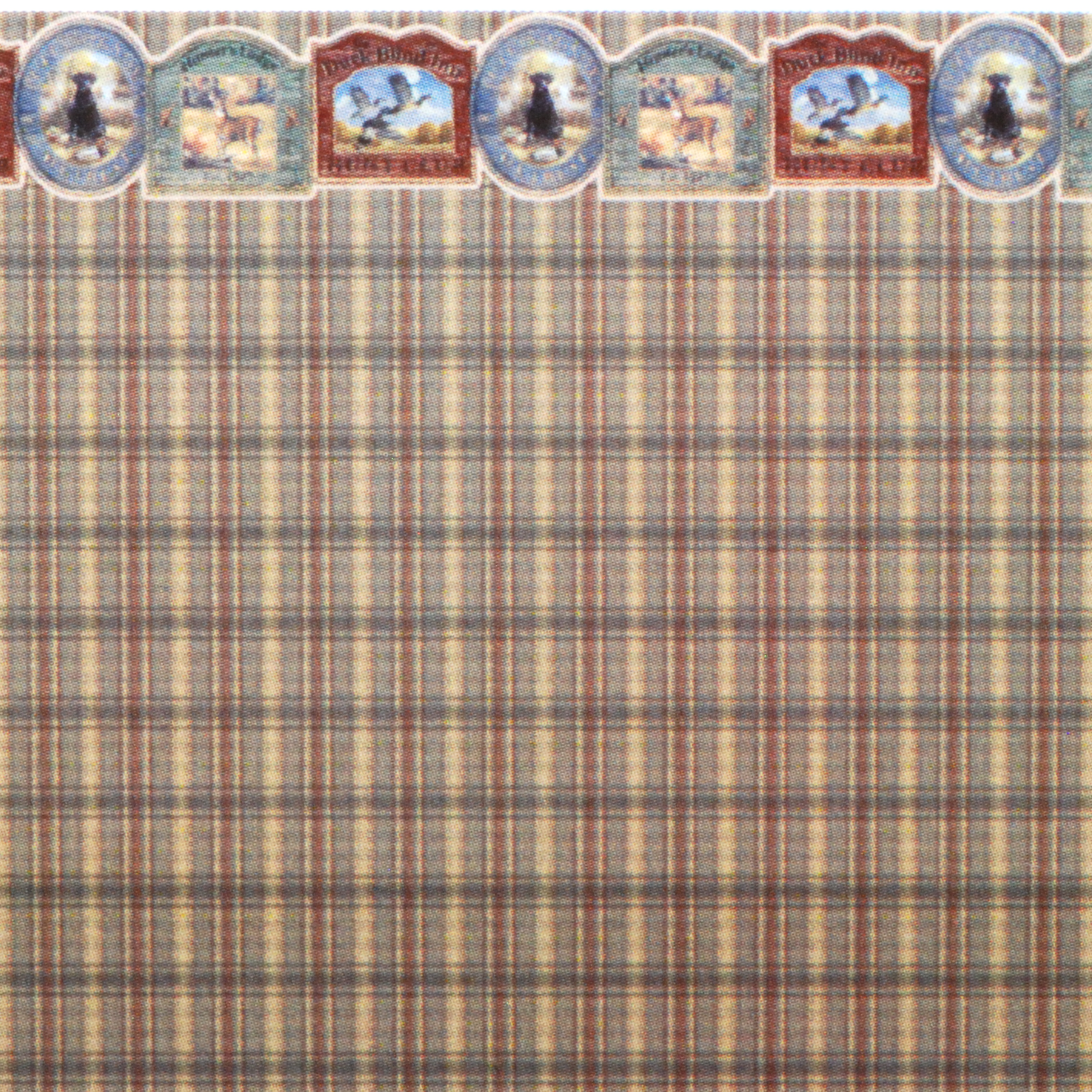 "1:48 Wallpaper ""Puppies and Plaid"" 