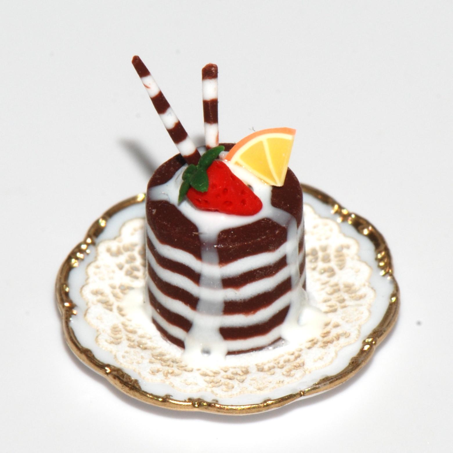 decadent chocolate pastry w  strawberry