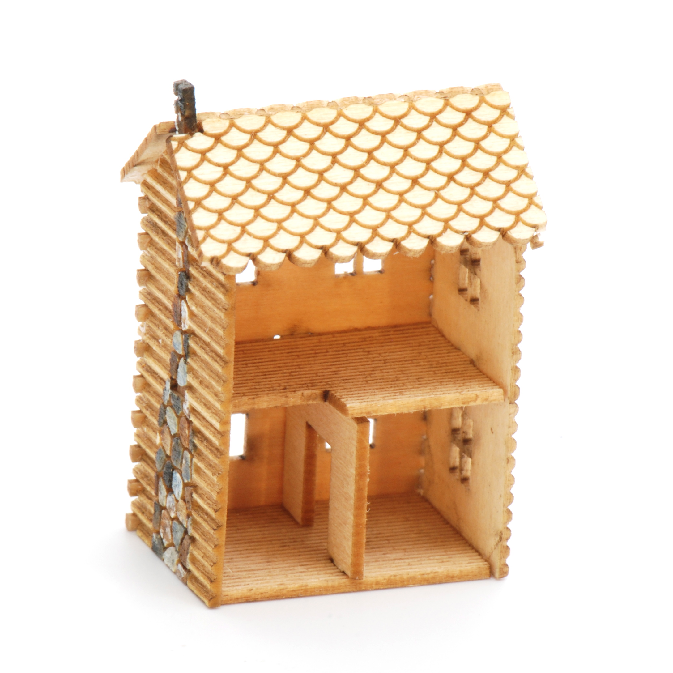 2 story log cabin kit stewart dollhouse creations for 2 story log cabin kits