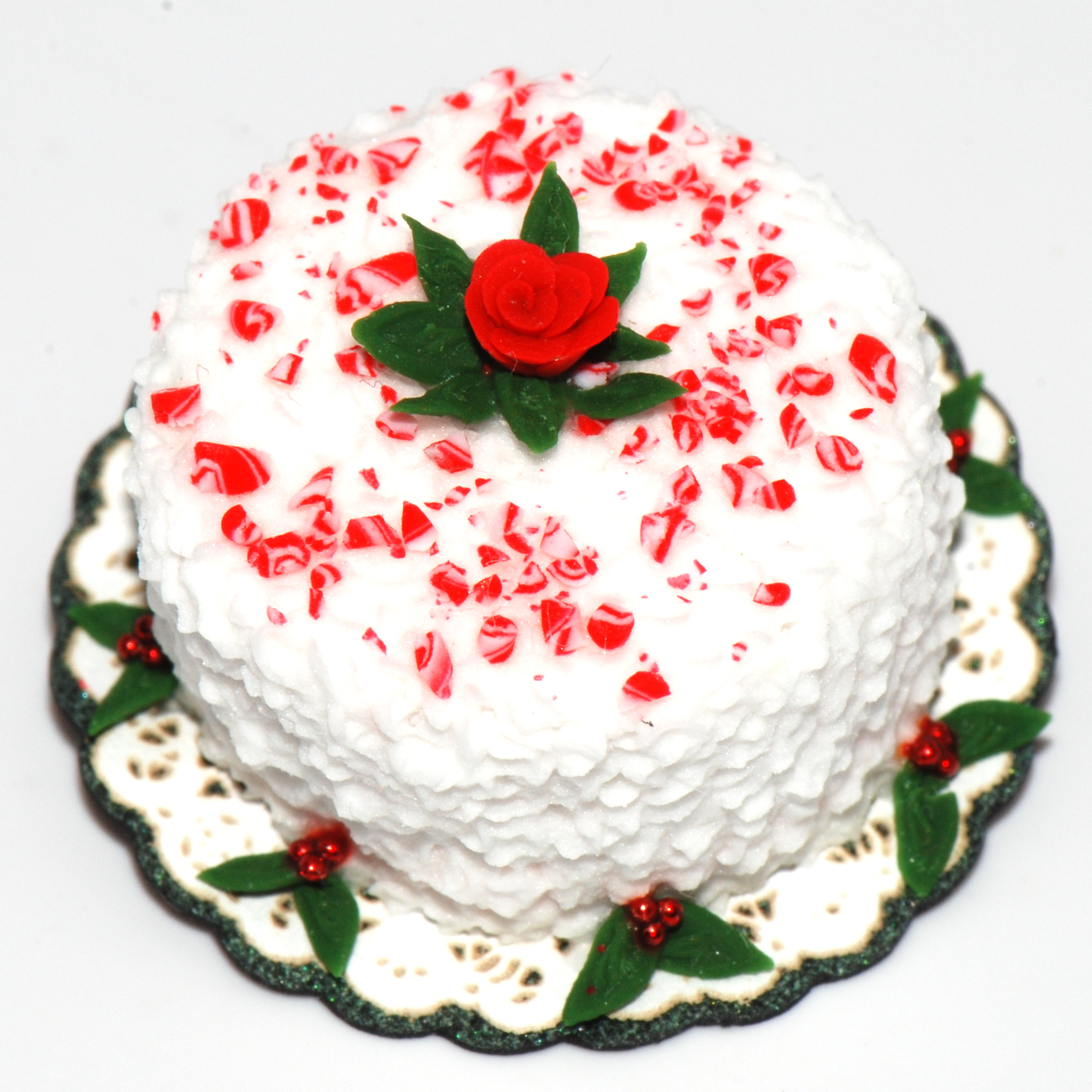 Candy Cane Sprinkles Cake | Stewart Dollhouse Creations