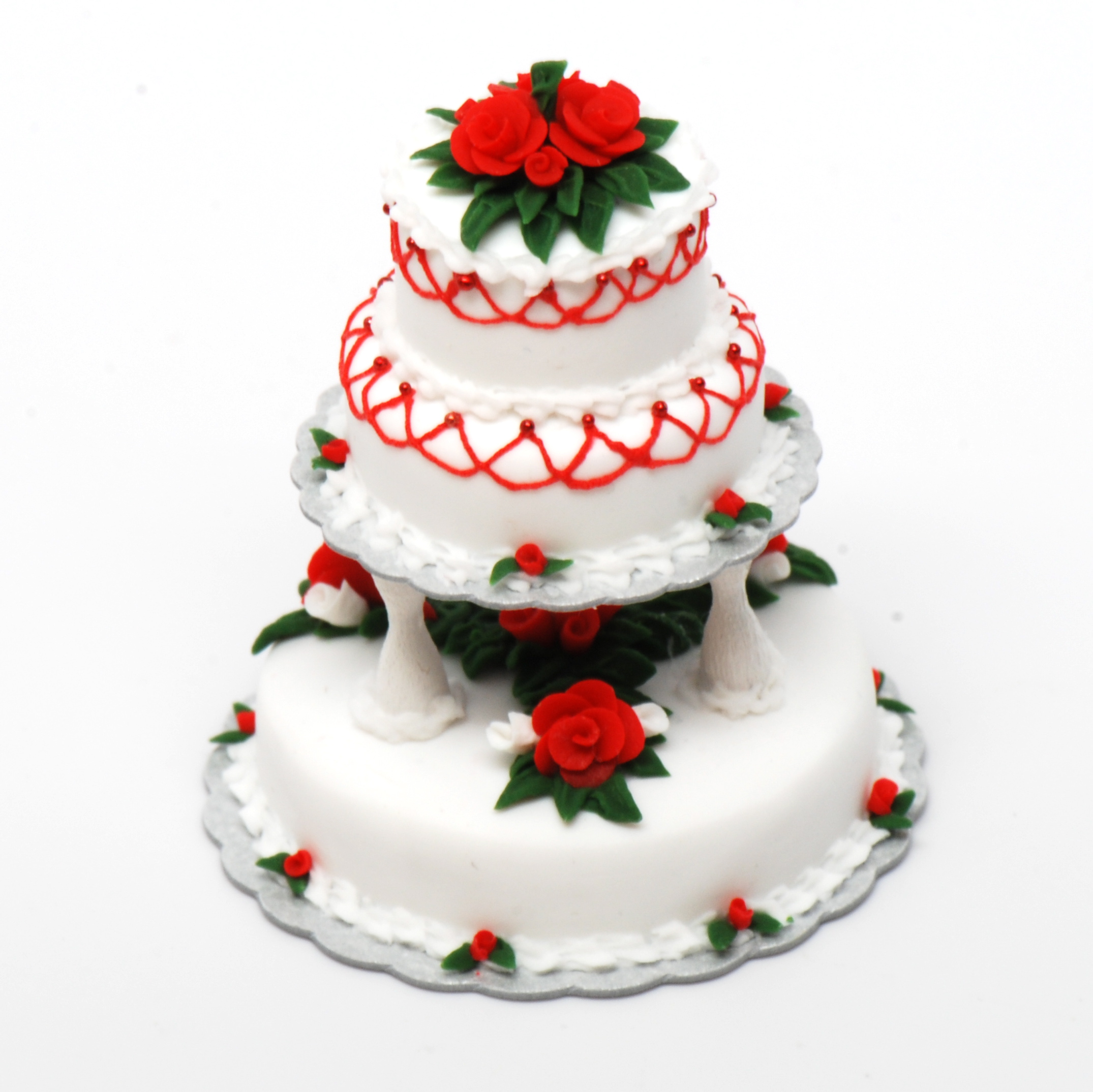 3 Tier Christmas Wedding Cake