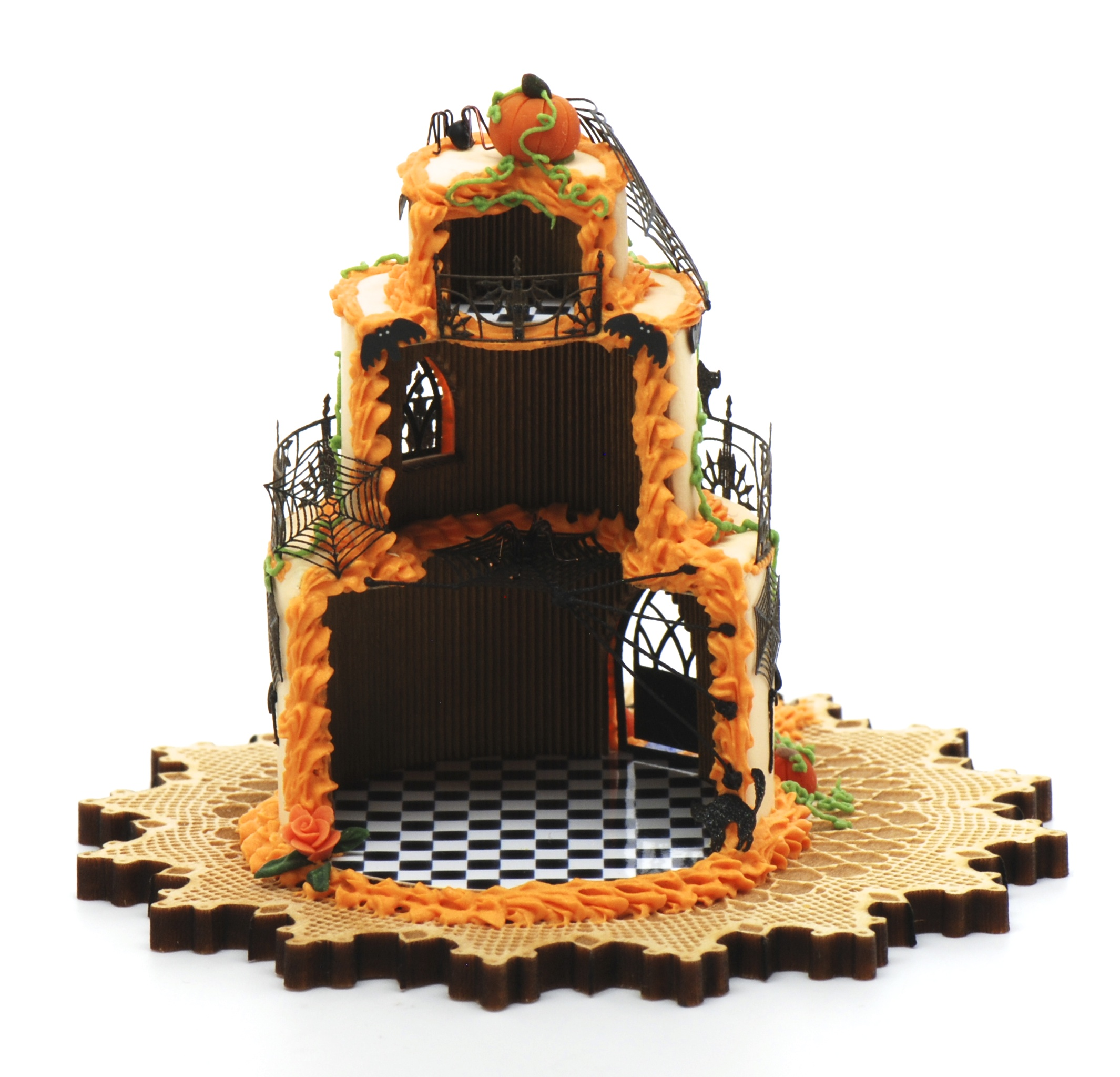 Halloween Cake House Kit Now Comes With Wallpaper Stewart Dollhouse Creations