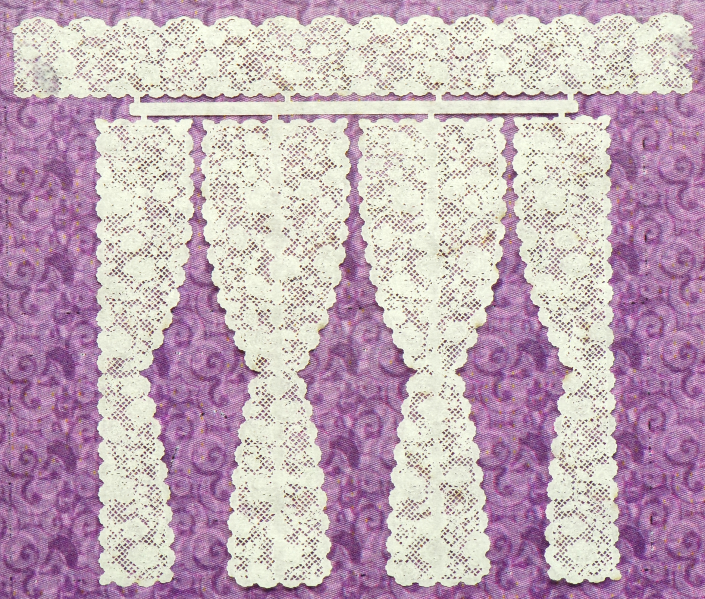 1 48 Rose 1 Double And Triple Panel Lace Curtains
