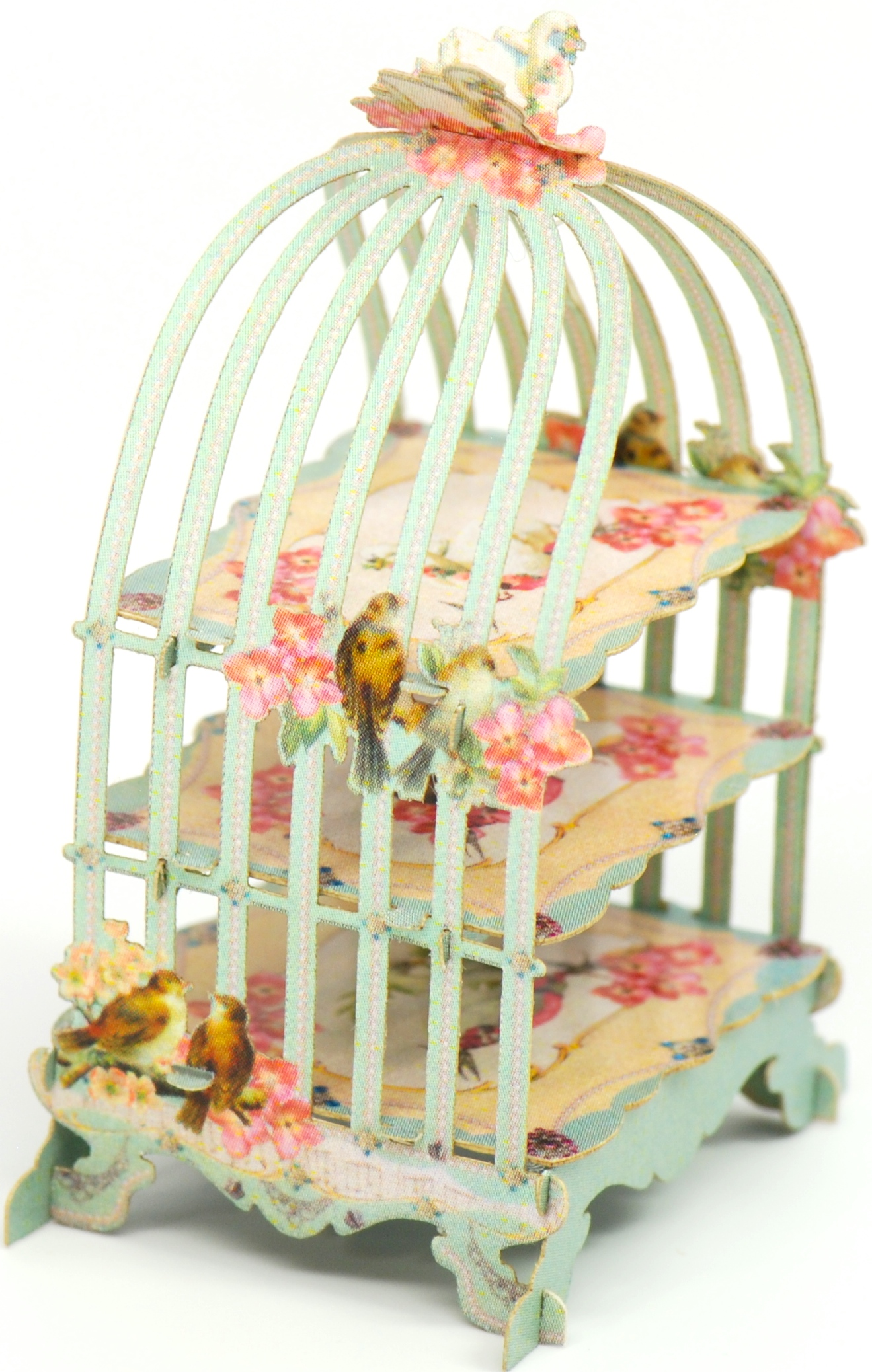 12 Birdcage Pastry Tower | Stewart Dollhouse Creations