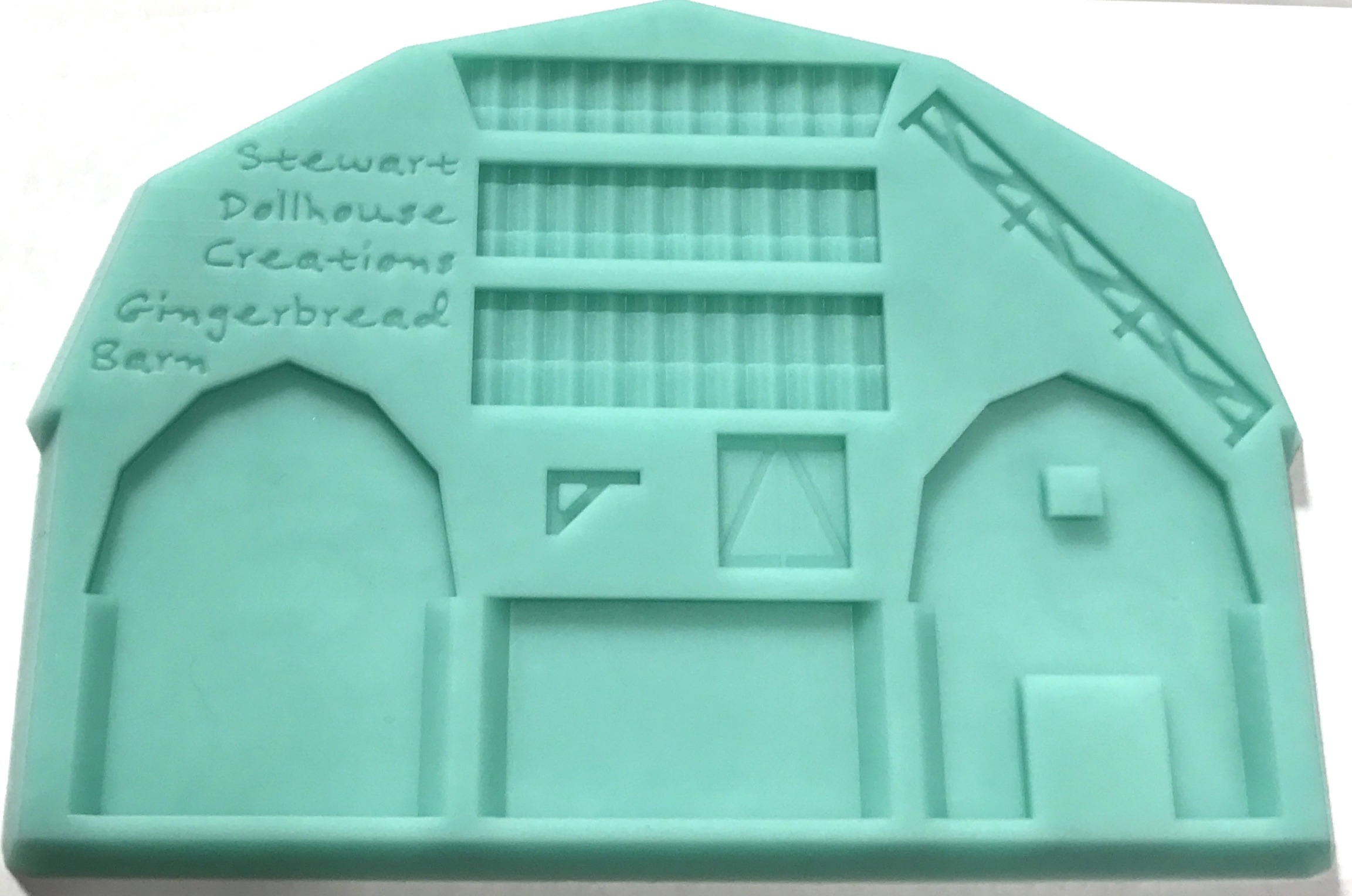 1 12 Gingerbread Barn With Fence Mold Stewart Dollhouse