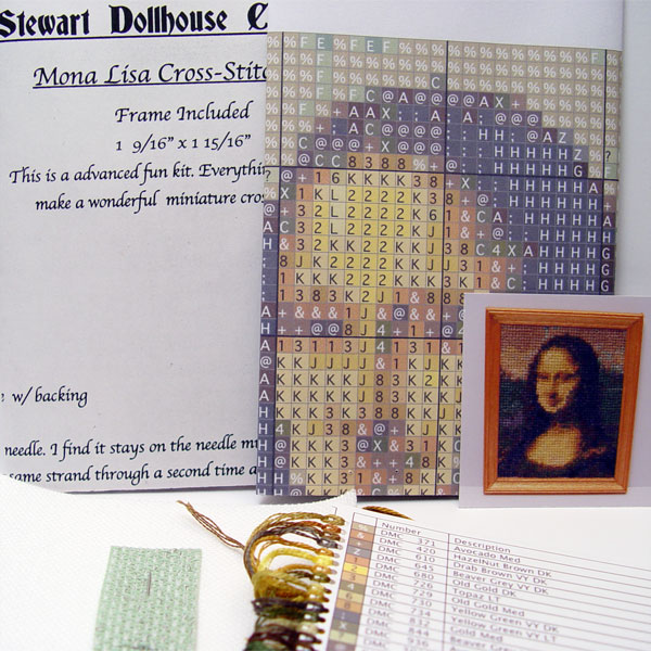 1 12 Scale Miniature Cross Stitch Kit Quot Mona Lisa