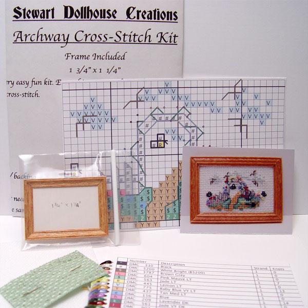 1/12 scale miniature cross-stitch kit \