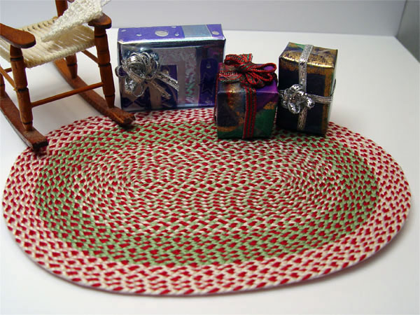 1 12 Scale Minature Large Multi Colored Christmas Rug