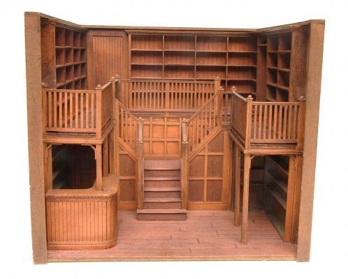 Prototype Oak Library 1 24 Scale Stewart Dollhouse Creations