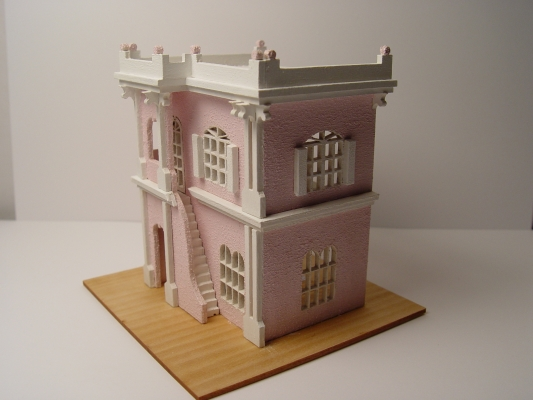 1 144 Scale Pink Stucco Kit Stewart Dollhouse Creations